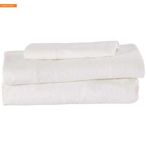 - Mikash New Soft Rustic Solid 100% Cotton Flannel Sheet Set, Soft and Easy Care, Twin, White | Style 84598335