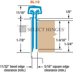 Select Hinges SL18 83'' Heavy-Duty [HD] Concealed Continuous Hinge-Ideal for storefront applications. Dark Bronze by Select Hinges