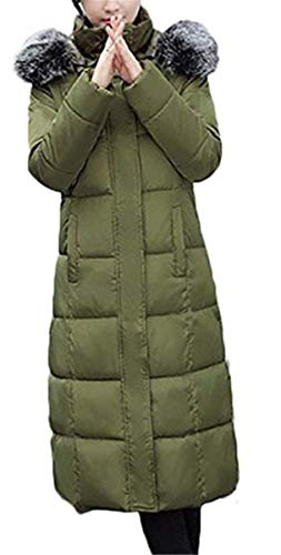 Manches Elégante Coat Warm Hiver Capuchon Parka Haute Qualité Outdoor Battercake Grande Épaissir Taille Armgrün Longues Manteau Avec Femme Mode De Doudoune Chic Fourrure PaZUZwqgFn