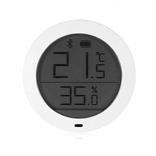 Low Energy Consumption LCD Screen Smart Home Wireless Temperature Humidity Sensor Thermostat for Mijia - White