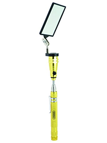 General Tools 91560 LED Lighted 22-inch Telescoping Magnetic Pick Up with Large Rectangular Inspection Mirror Attachment (Mirror Attachment)