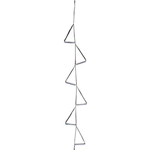 (Fofana Ninja Climbing Ladder - Over 7' Tall with 6 Steps | Slackline Rope Ladder for Kids | Backyard Playground Swingset Webbing Ladder | Rope Swing for Trees)