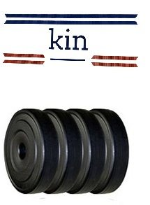 Kin PVC Plates for Home gym, Gyms, Free weights pack of 12kgs (3Kgs x4 plates) Price & Reviews