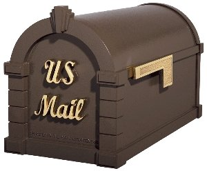 Gaines Keystone Signature Series Mailbox In Bronze/Polished Brass