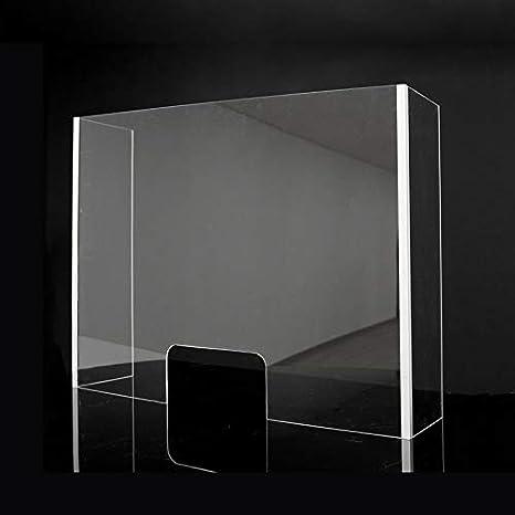 Mampara Metacrilato Plástico Transparente con laterales | Pantalla ...
