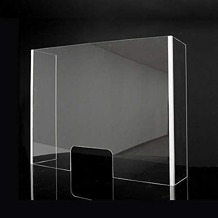 Mampara Metacrilato Plástico Transparente con laterales | Pantalla separadora metacrilato con ventana (80x90x30cm): Amazon.es: Salud y cuidado personal