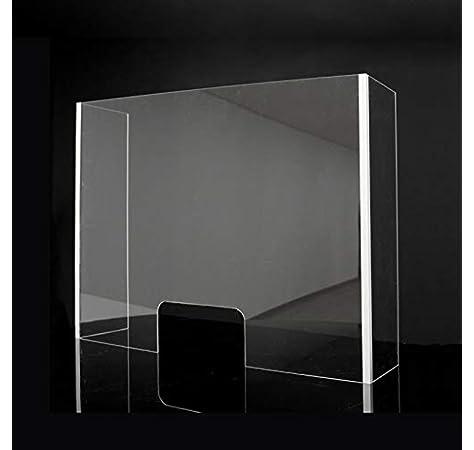 Pantalla de Protección - Mampara Sanitaria - Para Mostrador y Mesas oficina - Cristal templado de 6 mm. (120 X 70 X 45 cm) Posibilidad de Medidas Personalizadas Consultar.: Amazon.es: Oficina y papelería