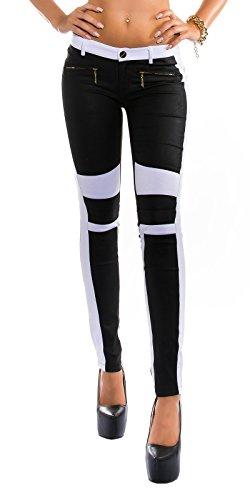 elegante tessuto M L Nero XL pantacalze morire pantaloncini S Pant Colori Applicazione Taglia Skinny in con Bq6Brw0xA