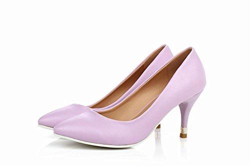 Carol Shoes Sweet Womens Candy Color Scarpe Eleganti Scarpe Eleganti Tacco A Spillo Tacco Alto Scarpe Viola