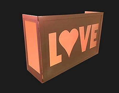 DJ Facade / DJ Workstation by Dragon Frontboards: Love 6' Facade: White Frame