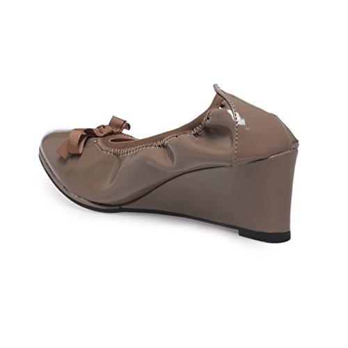 De Vestir Modeuse Material Mujer Sintético Zapatos Marrón La txgwEag