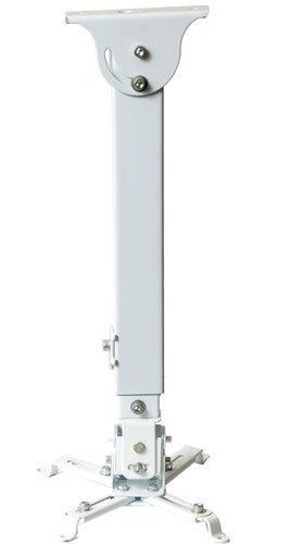 VideoSecu LCD/DLP Projector Ceiling Mount Bracket White Fits both flat or Vaulted ceiling PJ2W 1CA by VideoSecu