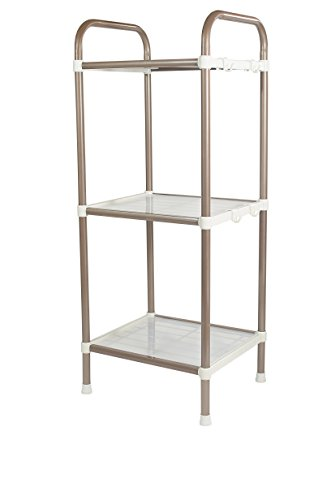 Bathroom Shelf - 3 Tier Shelf Organizer | Space Saving Shelf for Closets, Entryways, Doorways, Mudrooms, Garages & Home Storage | Expandable & Stackable w Other Shelves | Perfect for Organization by Wellmax