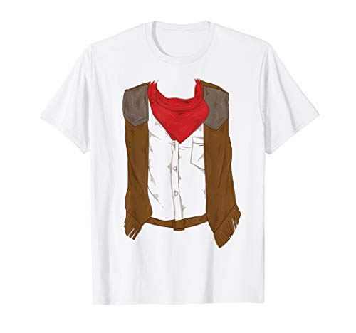 Cool Western Cowboy Halloween Costume Shirt Cowgirl Gift