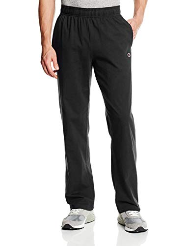 Champion Men's Authentic Open Bottom Jersey Pant, XX-Large - Black