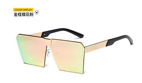 Ojos GLSYJ de gafas coreano Unidos blossom la Gold grandes los sol de cherry moda gafas gato gafas de Versión en y frame las sol Europa cuadrado sol LSHGYJ cajas Estados de dvzOPnd