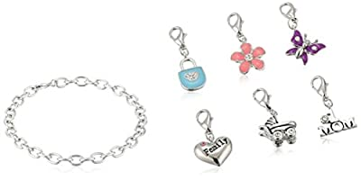 Oroclone Mother's Day Bracelet with Six Clasp-Style Charms