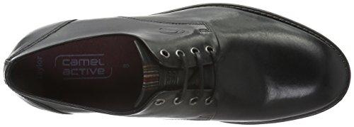 camel active Taylor 11, Zapatos de Cordones Derby para Hombre Negro (black 02)