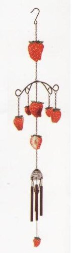 """Strawberry 33"""" Wind Chime"""
