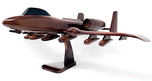 A-10 Warthog Replica Airplane Model Hand Crafted with Real Mahogany Wood