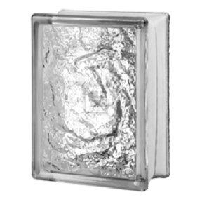 - Quality Glass Block 6 x 8 x 3 Ice Glass Block