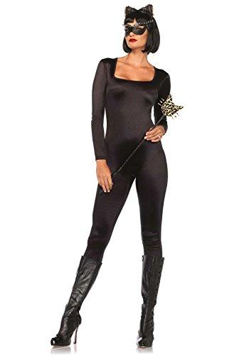 [Leg Avenue Women's Spandex Catsuit, Black, Small] (Black Spandex Suit)