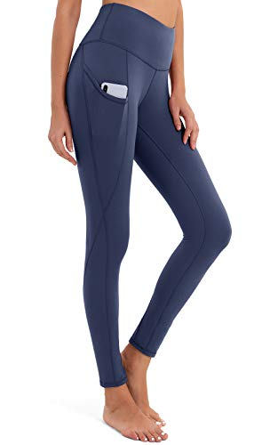 🥇 BROMEN Women's High Waisted Yoga Pants with Pockets Leggings for Women Buttery Soft Work Out Pants Tummy Control