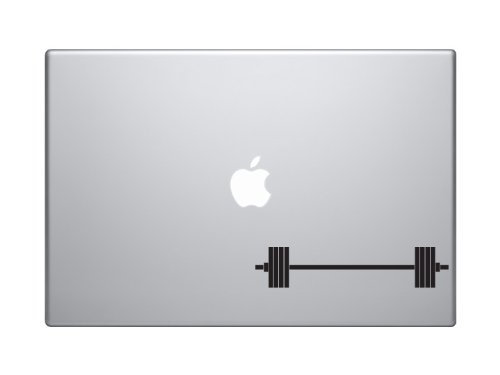 "Price comparison product image Barbell Weight Lifting Swole Olympic Muscle Building - 5"" Black Vinyl Decal Sticker Car Macbook Laptop"