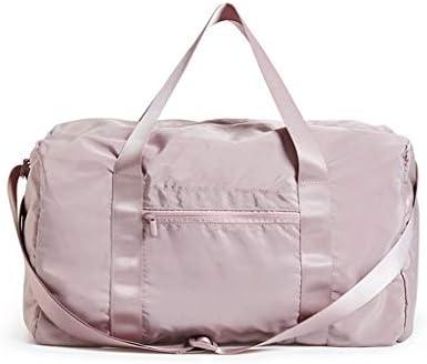 多機能大容量ポータブル防水ビジネス・トラベル・衣料品収納袋軽量ウェットとドライの分離スポーツジムバッグ HMMSP (Color : Pink)
