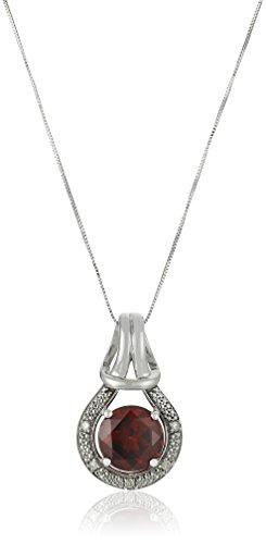 10k Gold Love Knot Gemstone Pendant Necklace, 18