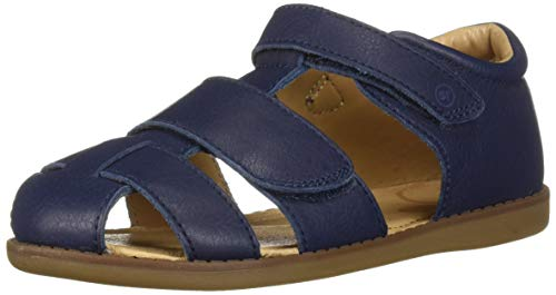 Stride Rite Emerson Boy's Closed-Toe Sandal, Navy, 7 M US Toddler
