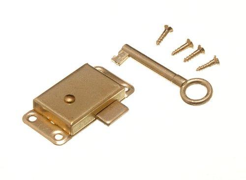 WARDROBE CUPBOARD DRAWER CABINET DOOR LOCK AND KEY 50MM WITH SCREWS - Antique Cabinet Lock: Amazon.com