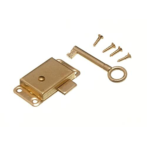 WARDROBE CUPBOARD DRAWER CABINET DOOR LOCK AND KEY 50MM WITH SCREWS - Antique Cabinet Lock: Amazon.com