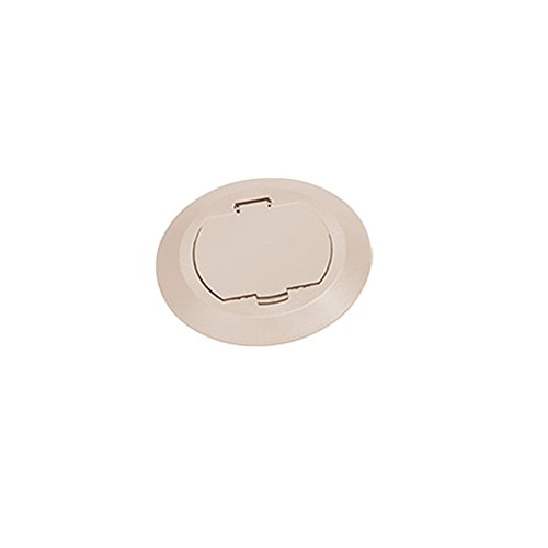 arlington-flbc4520la-1-plastic-cover-kits-for-non-metallic-concrete-floor-boxes-light-almond-1-pack