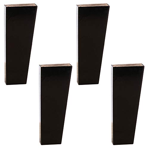 Furniture legs Oak x4, Replaceable Furniture Accessories, Tapered Table Bracket Table Legs Sofa Coffee Table Cabinet Foot Support feet, Load-Bearing Strong Anti-Slip Noise (Ten In The Bed Chu Chu Tv)