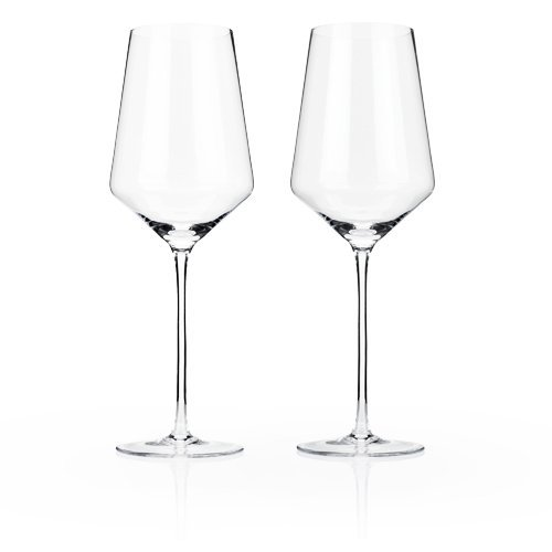 Bordeaux Glass Set (Raye Crystal Bordeaux Glasses by Viski - (Clear, Set of 2))