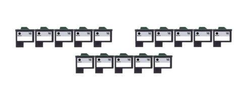 15/Pack 16 Black ink cartridges for Lexmark Compatible with: Color Jet Printer Z34 Z35 Z515 Z2600 Color Jet Printer i3 Z13 Z23 Z24 Z25 Printrio X1155 X1160 X1170 X1180 X1190 (Z13 Jet Printer)