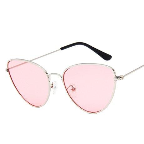De Eye KLXEB De Forma Marco Vintage Mujer Gota Gafas Del Tintado De Cat'S En Sol Marco Con plateado Famle Plateado Color rosa Sol Océano Rosa De Forma Moda Gafas WgYwn8xgU5