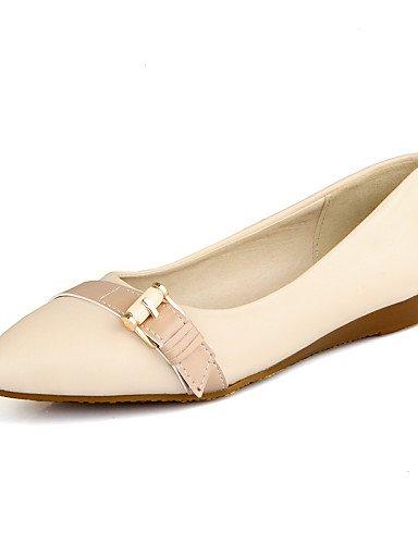 talón rosa de plano PDX negro mujeres uk6 eu39 beige azul Flats Casual zapatos las us8 Beige cn39 señaló Toe 7In11qHfwx