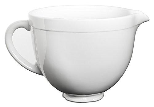 KitchenAid KSMCB5LW 5-Qt. Tilt-Head Ceramic Bowl - White Chocolate (Kitchenaid Mixing Bowls White compare prices)