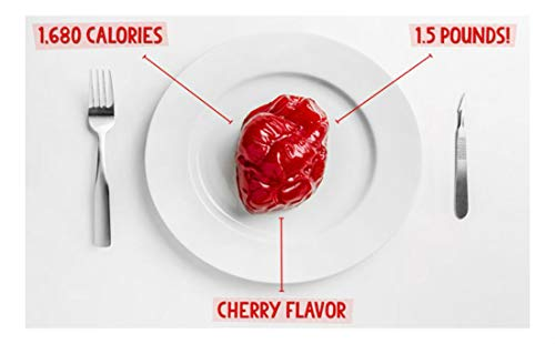 Largest Gummy Heart- Delicious and Realistic-Looking Human Heart Candy.