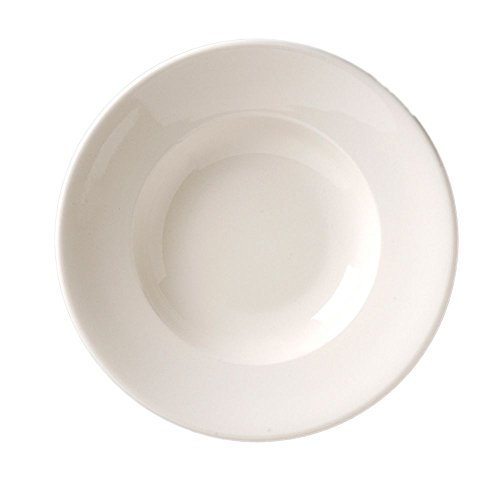 Vertex China Vista Collection Undecorated American White Deep Pasta Soup Bowl, 10 1/2 inch -- 12 per case. (China White Undecorated)