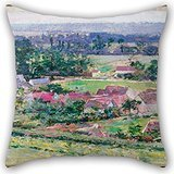 Pillow Cases 16 X 16 Inch / 40 By 40 Cm(2 Sides) Nice Choice For Birthday,dining Room,club,chair,christmas,pub Oil Painting Theodore Robinson - Giverny
