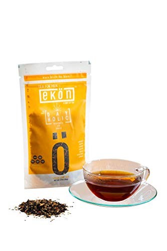 Energy Boosting Tea DAYHOLIC by ekön | Boost Your Energy & Focus While Reducing Fatigue | A Coffee Substitute| Inspired for Men, Loved by Women with touches of rich Hazelnut & Cinnamon | 30 day Supply Review