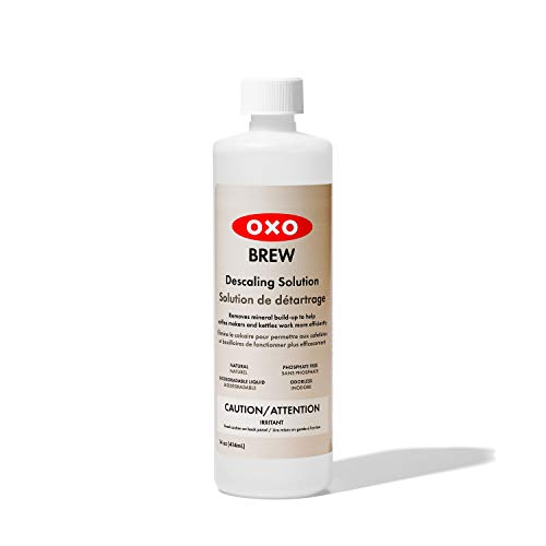 OXO BREW All-Natural Phosphate-Free Descaling Solution,Gray,