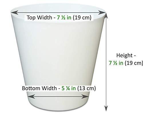 Buy white plastic flowerpot