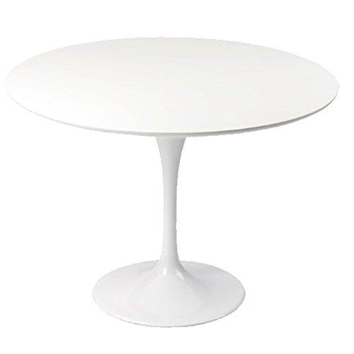 Table Design Ronde 110cm Blanche