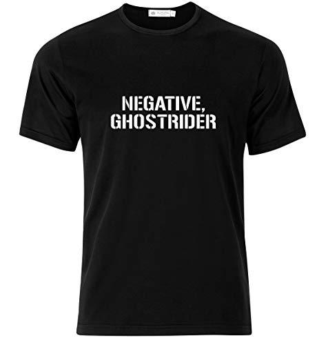 Hashtag Trend Negative Ghostrider T-Shirt Modern Looking T-Shirt (Medium) Black (Ghost Rider Adult Vinyl)