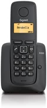 Gigaset A120 - Teléfono fijo inalámbrico (con pantalla), color negro: Amazon.es: Electrónica