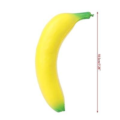 KOVIPGU 18CM Simulation Banana Squishy Toy Slow Rising Squeeze Stress Decompression Doll: Home & Kitchen